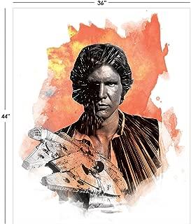 Star Wars Panel Han Solo in Orange Premium Cotton Fabric by The Panel