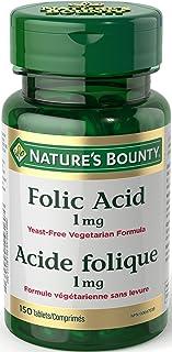 Nature's Bounty Folic Acid 1 mg 150 Tablets (Packaging May Vary)