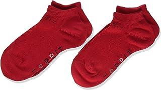 ESPRIT Kids Foot Logo 2-Pack Trainer Socks - 80% Cotton, Red (Fire 8150), UK