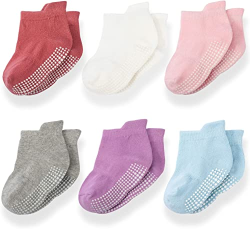 Momcozy Chaussette Bebe Chaussette Antiderapante Bebe Coton Chaussette Enfants Garcon Chaussette Fille Chaussette Beb...