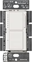 Lutron MA-L3S25-WH Maestro 300 Watt Single-Pole Dual Dimmer and Switch, White