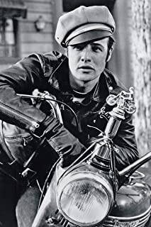 Marlon Brando On Motorcycle in The Wild One Movie Poster 12