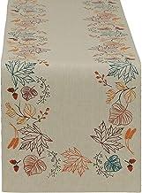 """مفرش طاولة مزين بأوراق الخريف من ديزاين إمبورتس (14\"""" × 72\"""") (أوراق خريف)"""