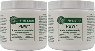 Five Star PBW - 1 lbs - Non-Caustic Alkaline Cleaner, 2 Pack