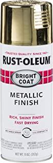Rust-Oleum 7710830 Stops Rust Bright Coat Metallic Spray Paint, 11 Ounce (Pack of 1), Gold
