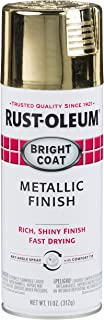 Rust-Oleum Not Available 7710830 Bright Coat Metallic Color Spray, Gold, 11-Ounce