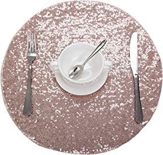 Best gold glitter round placemats Reviews