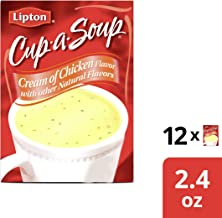 Lipton Cup A Soup Instant Soup, Cream of Chicken, 2.4 oz 4 Count (Pack of 12)