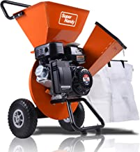 "SuperHandy Wood Chipper Shredder Mulcher Ultra Duty 7HP Gas 3 in 1 Multi-Function 3"" Inch Max Wood Capacity EPA/CARB Certi..."
