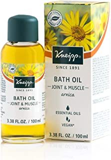 Kneipp Arnica Herbal Bath Oil for Joint & Muscles, Bath Soak, 3.38 fl. oz.