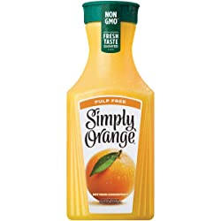 Simply Orange Juice, 52 fl oz, 100% Juice Not from Concentrate, Pulp Free