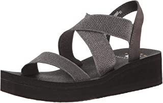 Yellow Box Women's Criss Cross Stretch Elastic Lightweight Wedge Sandal