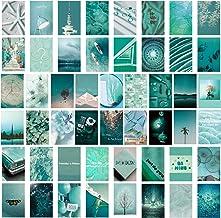 SAVITA 50 Stuks Collage Posters Kit voor Muur Esthetische, Dromerige Blauwe Esthetische Foto's voor Esthetische Muur Colla...
