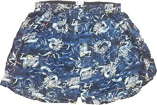 [稲田布帛工業所] トランクス 日本製 和柄 メンズ 下着 パンツ 龍柄 (白色 赤色 紺色)