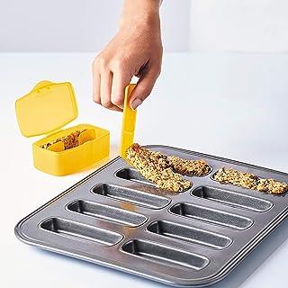 mastrad F40860 Kit de Barres de céréales-Moule 10 cavités + tasseur avec Une Languette + 2 boîtes de Transport + Recette-A...