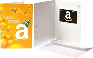 Amazon.com $45 Gift Card in a Greeting Card (Birthday Balloons Design)
