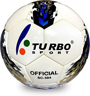 Turbo Sport Sc-384 Soccer Ball Official Size 4 PU Leather Eva Cover