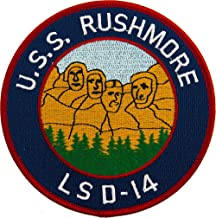 USS Rushmore LSD-14 Patch Full Color