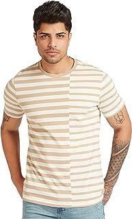 Iconic Men's 2300345 ROBERT Cotton T-Shirt, Beige