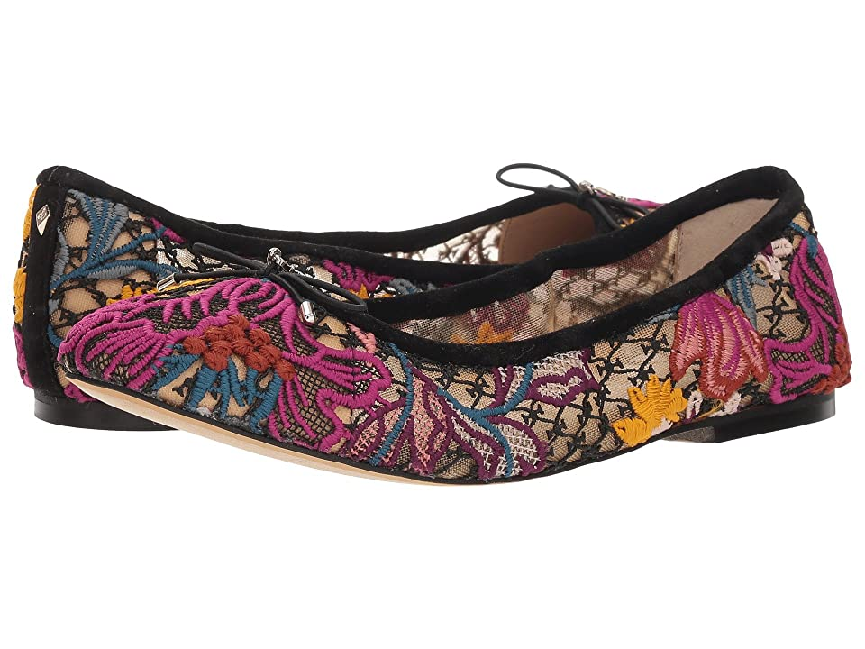 ebb5c2219d9e Sam Edelman Felicia (Bright Multi Floral Chintz Lace) Women s Flat Shoes
