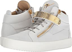 Giuseppe Zanotti May London Textured Band Mid Top Sneaker