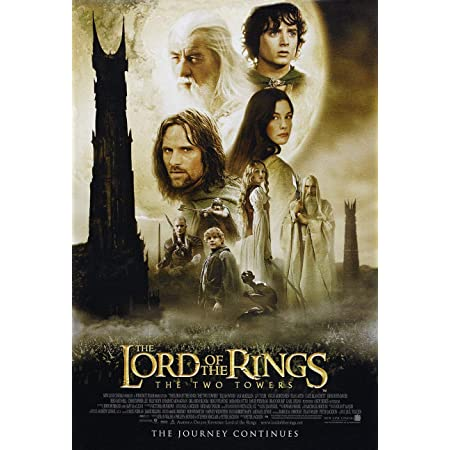 Lord of the Rings TWO TOWERS Greatest Movie Poster Classic Vintage 300gsm A4 A3