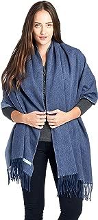 Mariyaab 100% Lambswool wool Women Solid Oversized Large Pashmina Scarf Stole Shawl