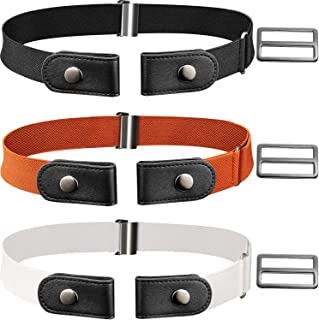 3 Piece No Buckle Belt Buckle-free Adjustable Belt with 3 Piece Buckle for Jeans