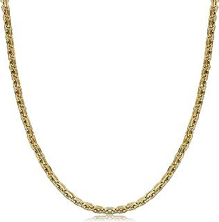كول جيويلري قلادة من الذهب الأصفر عيار 14 قيراط للرجال والنساء (5.2 مم، 55.88 سم)