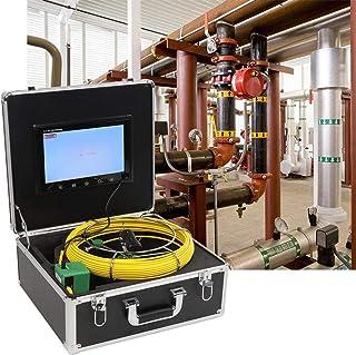 pijpinspectiecamera met hoge resolutie flexibele glasvezelkabel Pijpinspectiesysteem met een 4500 mAh(European standard 220V)
