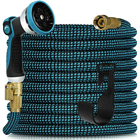 Expandable Garden Hose 100ft - Expanding Water Hose with 10 Function Nozzle, Easy Storage Garden Water Hose