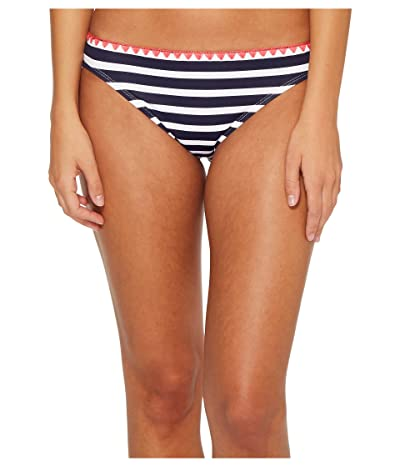 Tommy Bahama Breton Stripe Hipster Bikini Bottom (Mare Navy/White) Women