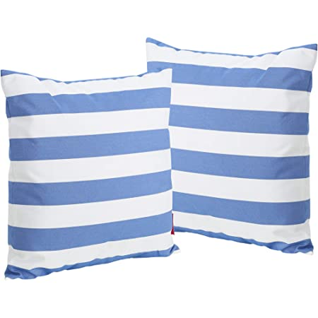 Blue 2-Pcs Set Christopher Knight Home Coronado Outdoor Square Water Resistant Pillows