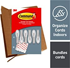Command Gray Cord Bundlers, Indoor Use, Decorate Damage-Free, 6 bundlers, 12 strips (GP304-6NA)