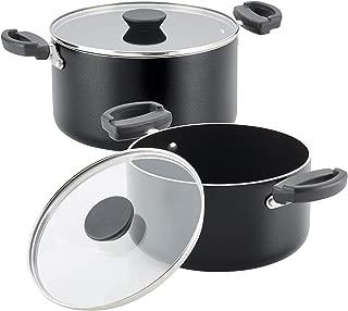 Farberware 21999 Neat Nest Dishwasher Safe Nonstick Saucepot Pots and Pans Set, 4 Piece, Black