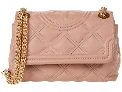 Tory Burch Fleming Soft Small Convertible Shoulder Bag (Pink Moon) Handbags
