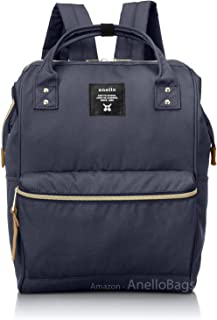 Japan Anello Backpack Unisex Regular Size NAVY Rucksack Canvas Bag