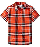 Burberry Kids - Fred Short Sleeve Shirt (Little Kids/Big Kids)