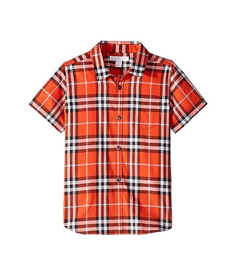 Burberry Kids Fred Short Sleeve Shirt (Little Kids/Big Kids)