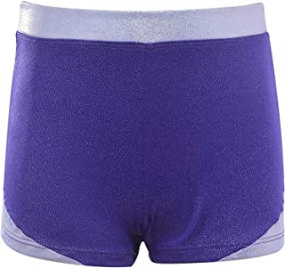 Dancina Girls Tumbling Gymnastics Shorts - Stretch & Sparkle Athletic Dancewear - Ages 3-12