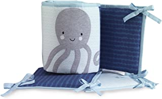 Lambs & Ivy Oceania 4-Piece Crib Bumper - Ocean Underwater Theme - Blue