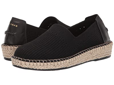 Cole Haan Cloudfeel Stitchlite (Black/Natural Jute) Women