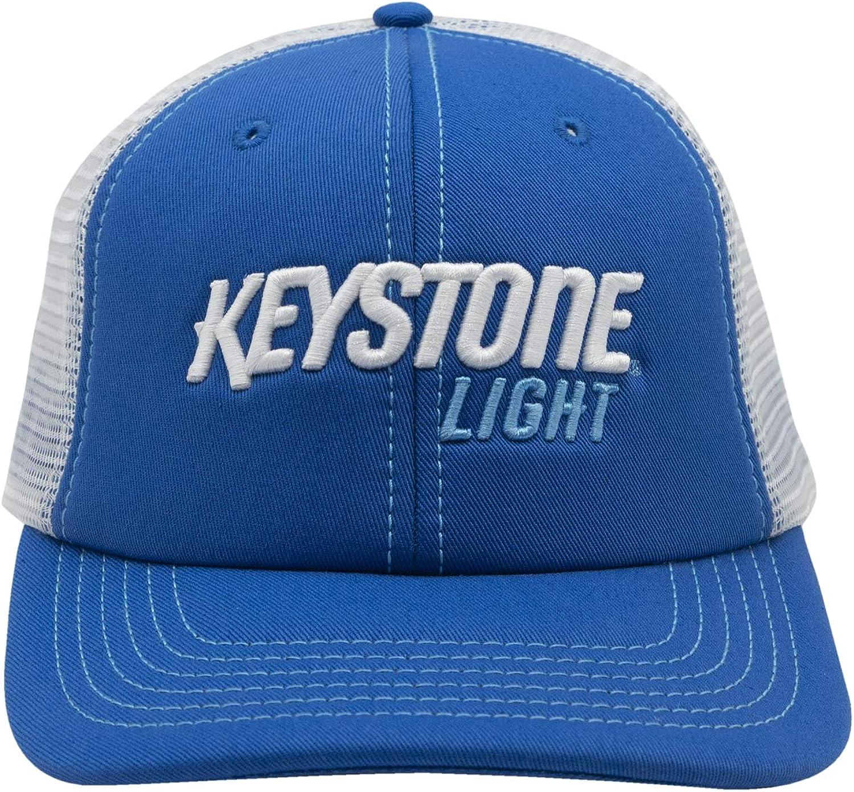 Keystone Light Basic Beer Snapback Trucker Cap Blue/White