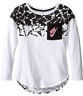 Nike Kids - Club Aop Long Sleeve Pocket Top (Little Kids)