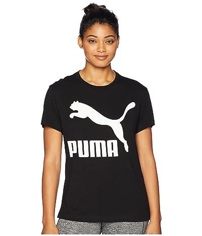 PUMA Classics Logo Tee (Cotton Black) Women