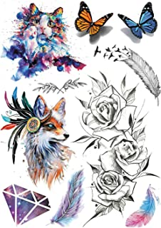 1 Pcs Owl Design Large Arm Tattoo Sleeve Flash Temporary Tattoo Sticker 21 x 15 cm Waterproof Tatoo Women Body Art,A10