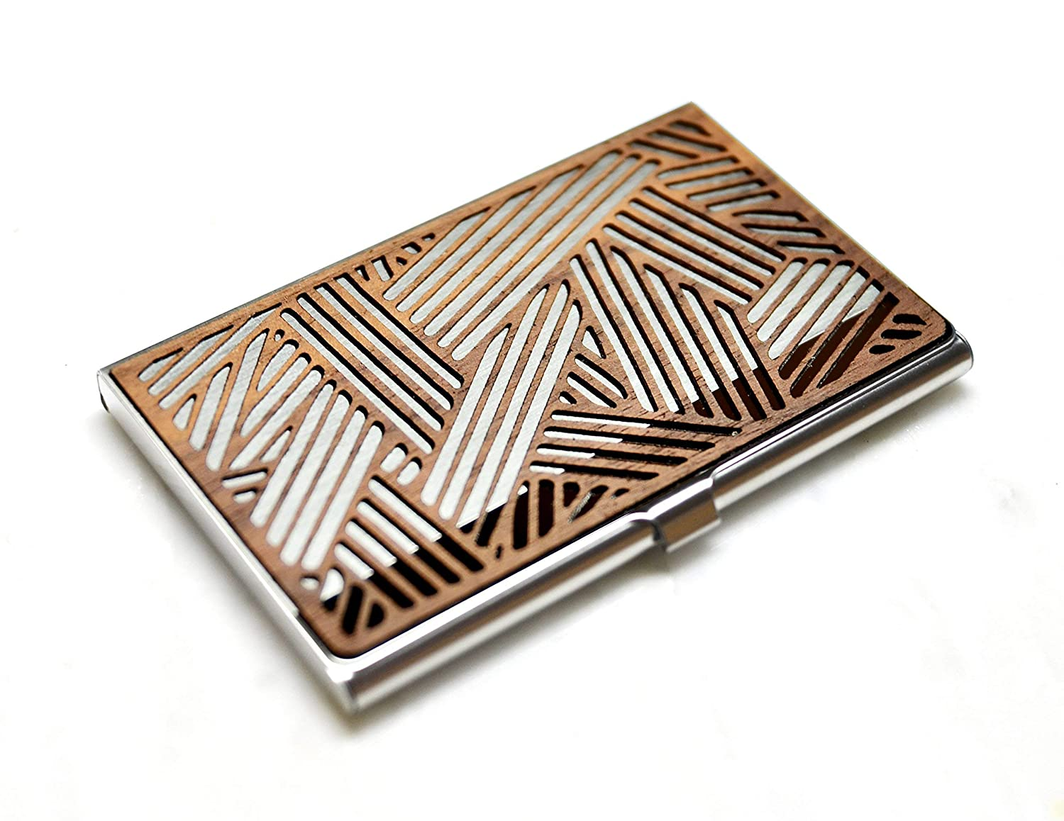 Wood business Our shop OFFers the best service card case wooden Popular brand Credit Business holder