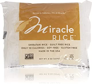 Miracle Noodle Shirataki Konjac Rice, 8 oz (Pack of 6), Zero Net Carbs, Low Calorie, Gluten Free, Soy Free, Keto Friendly