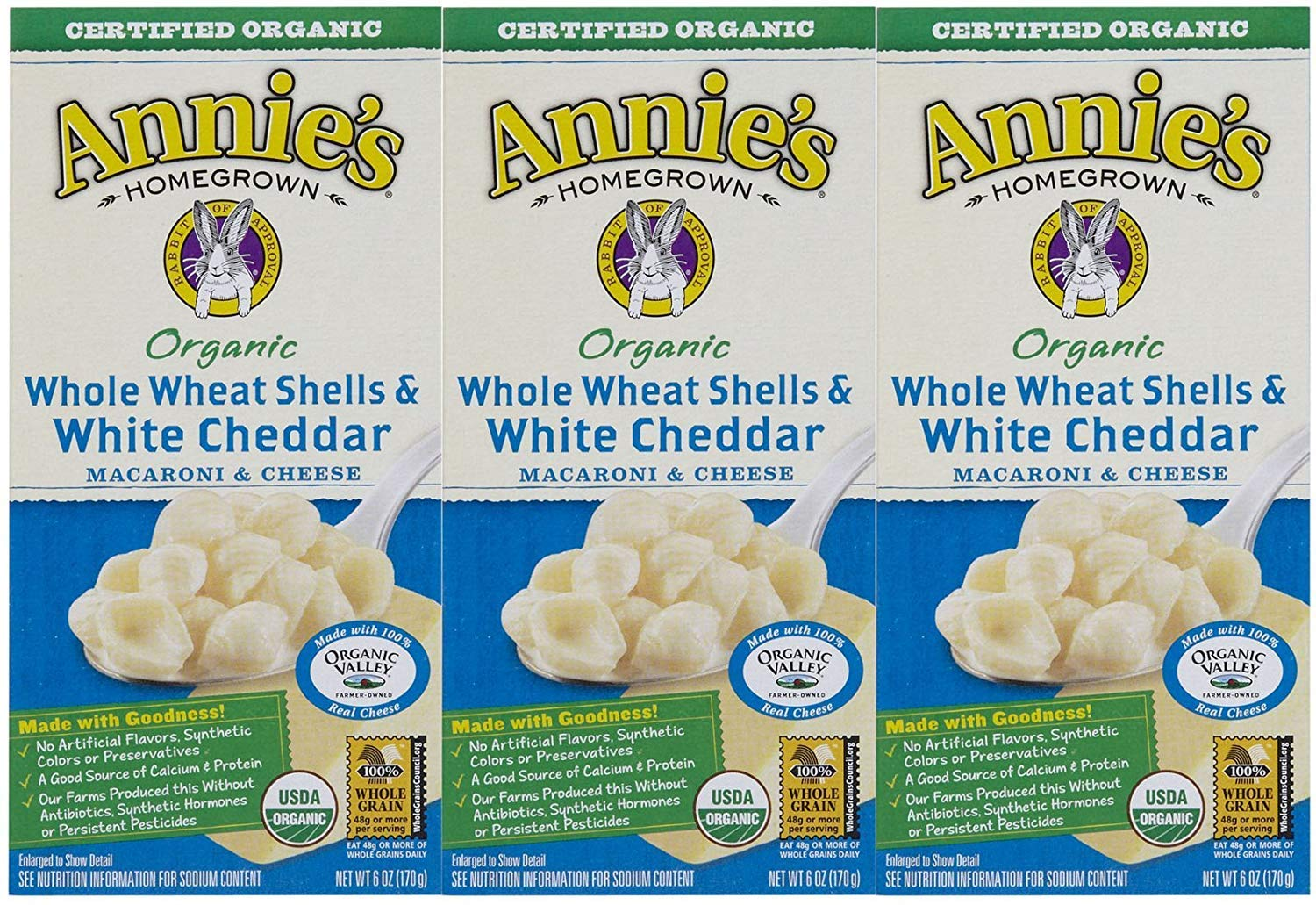 Max 62% OFF Annie's Homegrown Organic Macaroni Cheese Wheat 2021 autumn and winter new - Shells Whole
