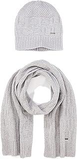 HUGO Zantas Set Bufanda, Gris (Medium Grey 032), Talla única (Talla del fabricante: STÜCK) para Hombre